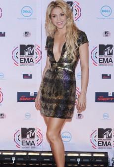 Pop Stars on the Purple Carpet at the MTV European Music Awards
