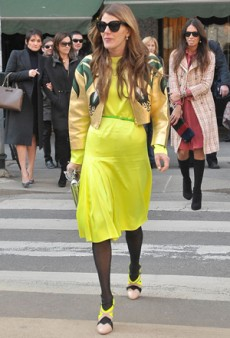 Color Rules Street Style at Milan Fashion Week Fall 2011