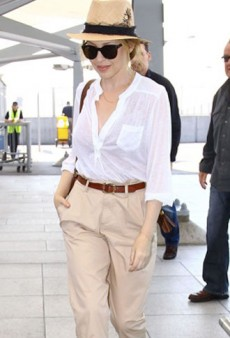 Celebrity Style Tips: Green Polish, Pleated Pants and Colorful Belts