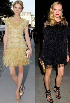 Birds of a Feather: Clemence Poesy, Diane Kruger, and More Love Feathered Dresses