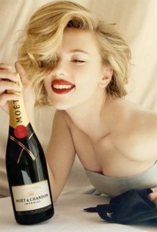 Scarlett Johansson Turns Down Marine Ball Invite, Sends a Case of Moet & Chandon