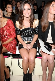Pippa Middleton Sits Front Row at Temperley London