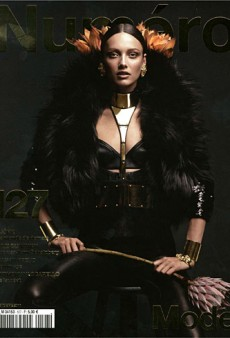 Numéro Delivers a Dark and Dramatic October Cover Featuring Karmen Pedaru (Forum Buzz)