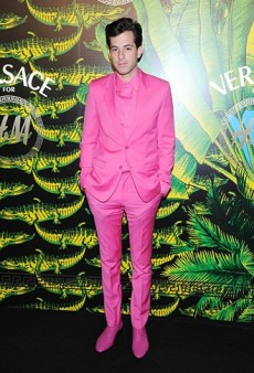 Mark Ronson Wore the Versace for H&M Pink Suit at Last Night's Launch Party