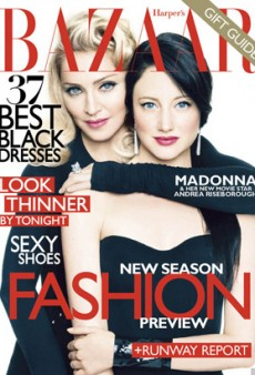 Madonna and Andrea Riseborough Cover Harper's Bazaar's December Issue (Forum Buzz)
