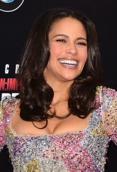 Paula Patton: Look of the Day – Feather-accented Dress
