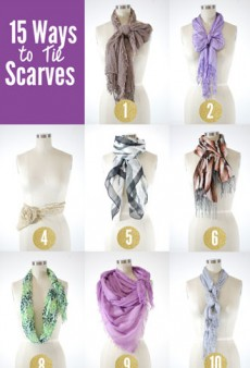 15 Chic and Creative Ways to Tie a Scarf