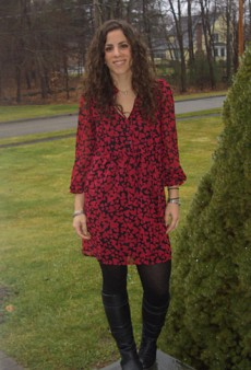 Show Us Your Red: Heart Print Dress