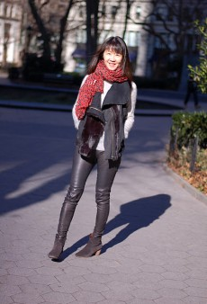 Show Us Your Red: Animal-Print Scarf