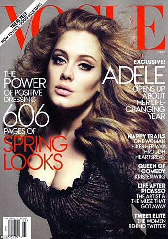Adele by Mert Alas & Marcus Piggott - Vogue March 2012