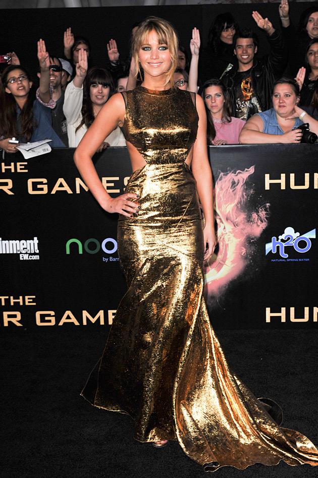 Jennifer Lawrence Hunger Games Premiere wearing Prabal Gurung