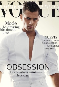 Sean O'Pry Covers Vogue Hommes International's Spring Issue (Forum Buzz)