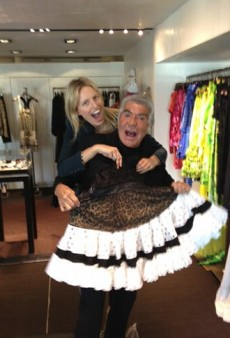 Cavalli Goofs Around with Kurkova and Other Celeb Twitpics of the Week