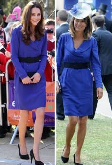 Kate Middleton Borrows Her Mum's Dress