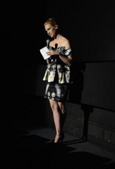 "January Jones Talks Fashion Essentials at a Screening for ""La Revolution Bleue"""