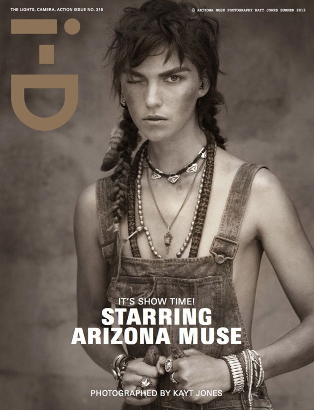 i-D Summer 2012 cover - Arizona Muse by Kayt Jones