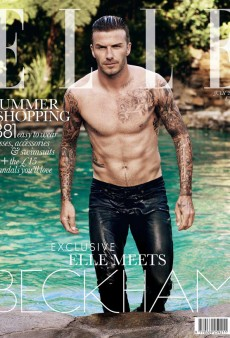 A Shirtless David Beckham Covers Elle UK's July Issue (Forum Buzz)