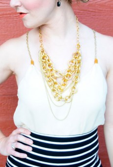 DIY: Turn a Broken Necklace Into a Chic Chain Strap Tank Top