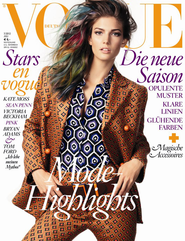 Vogue Germany July 2012 cover - Kendra Spears
