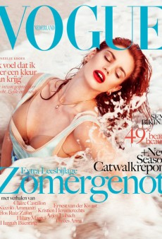 Rianne ten Haken Gets Wet on Vogue Netherlands' Summer Cover (Forum Buzz)