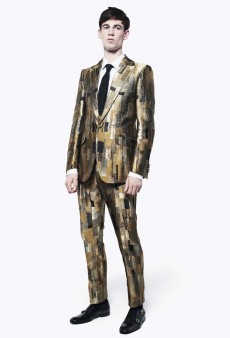 Armani Loosens Up and More Milan Men's Spring 2013 from Gucci, Alexander McQueen, and Fendi