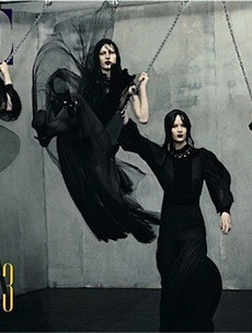 Vogue Italia Goes Dark and Dramatic for July (Forum Buzz)