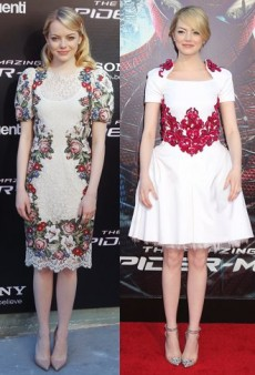Style Showdown: Emma Stone's Flowery Frocks and Three Celebs in Red Suits
