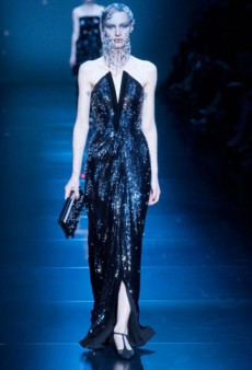 Armani Prive Haute Couture Fall 2012: Menswear-Inspired and Lots of Crystals