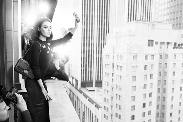 Miss Dior Handbags - Mila Kunis by Mario Sorrenti and Carine Roitfeld