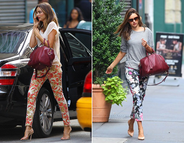 Miranda Kerr in floral pants