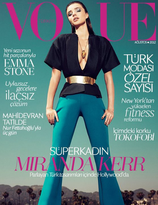 Vogue Turkey August 2012 - Miranda Kerr