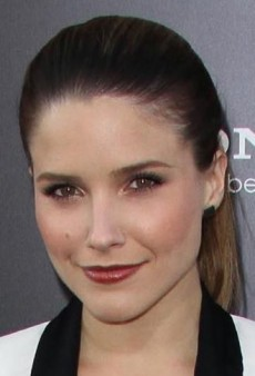 Look of the Day: Sophia Bush's Sleek Ivory IRO Blazer and Black Helmut Lang Leather Leggings