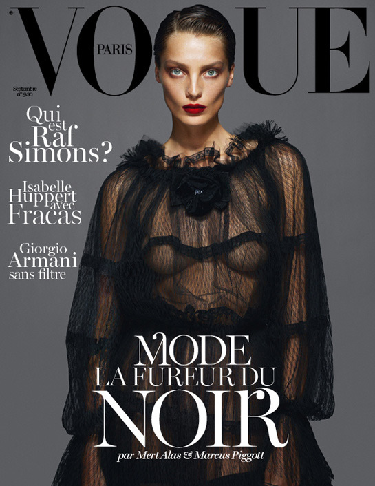 Vogue Paris September 2012 - Daria Werbowy in Dolce & Gabbana by Mert & Marcus