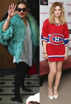 Style Showdown: Rita Ora and Nicola Roberts Sport Jerseys and More