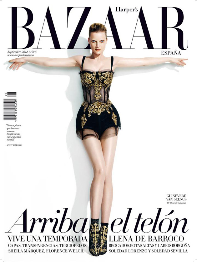 Harper's Bazaar Spain September 2012 - Guinevere van Seenus