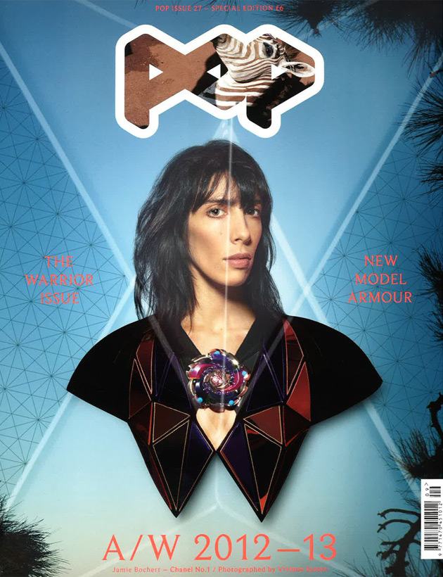 Pop Fall 2012 - Jamie Bochert photographed by Viviane Sassen