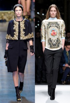 Go For Baroque This Fall With Rococo Prints and Gilded Embellishments