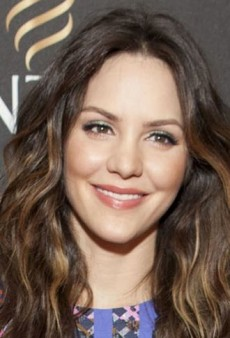 Look of the Day: Katharine McPhee Mixes Prints with Peter Pilotto and R&Y Augousti