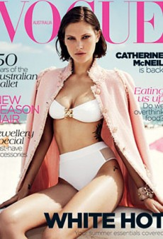 A Bikini-Clad Catherine McNeil Covers Vogue Australia's November Issue (Forum Buzz)