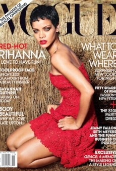 "Rihanna ""Love[s] to Have Fun"" on the Cover of Vogue"
