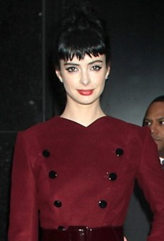 Look of the Day: Krysten Ritter Stylishly Combines a Flared Robert Rodriguez Coat with Rachel Zoe's Black Lace-Up Sandals