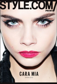 Cara Delevingne Covers Style.com/Print's Spring 2013 Issue (Forum Buzz)