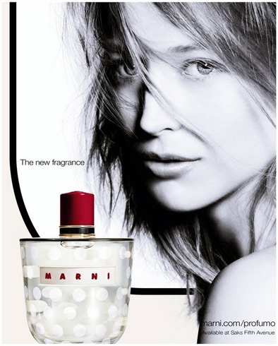 Raquel Zimmermann photographed by Nick Knight for Marni's new fragrance