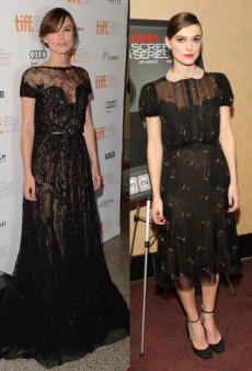 Borrow a Little of Keira Knightley's Sheer Elegance in Mesh-Panelled Dresses