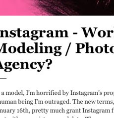 Coco Rocha Is SO MAD About Instagram's New Terms of Service — And I Don't Get It