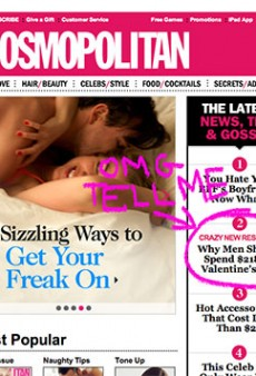 "For Valentine's Day, Cosmo Asks: ""How Much Is Your Vagina Worth?"""