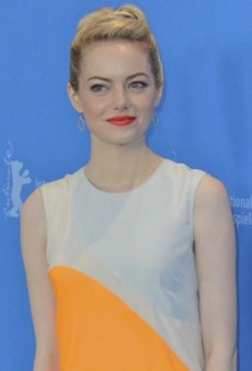 Look of the Day: Emma Stone's Colorblock Stella McCartney Spring 2013 Silk Dress