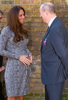 "Kate Middleton's ""Baby Bump"" Wears MaxMara to Its First Public Appearance"
