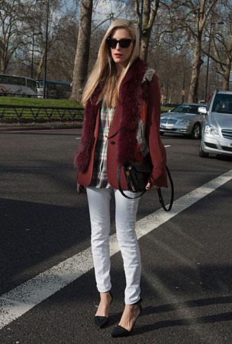 Joanna Hillman at London Fashion Week Fall 2013
