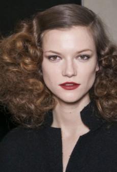 Peach Lids, Wet Look Hair and Vampy Lips in Milan's Best of Beauty